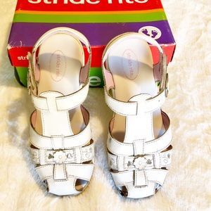 Stride Rite White Sandal